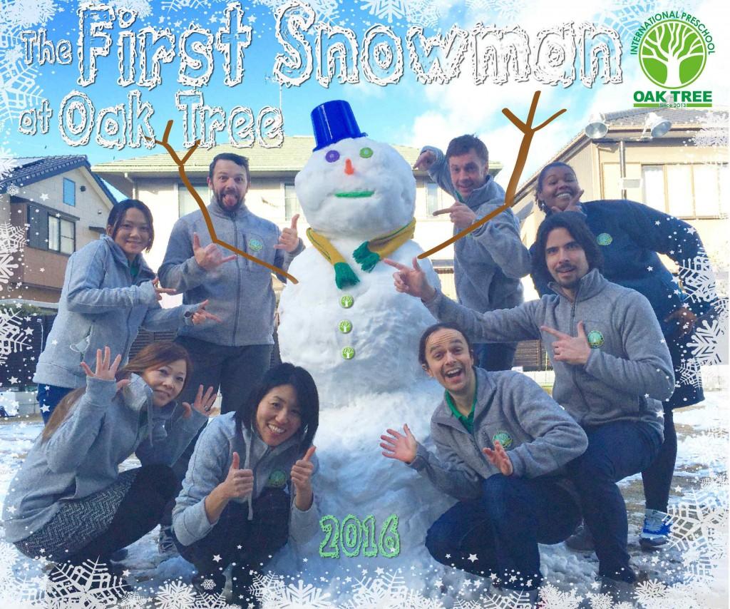 Oak Tree Snowman1